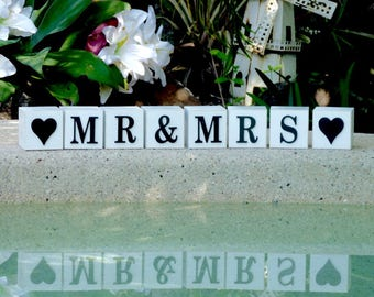 Mr and Mrs  Wooden wedding signs , Rustic Wedding sign, Wedding decorations, Mr and Mrs Sign, Wedding reception