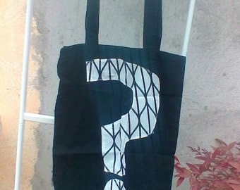 question mark  cotton tote bag