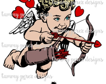 Valentine Cupid SVG File - Digital File for Craft Cutting
