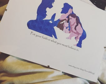 Tarzan silhouette print
