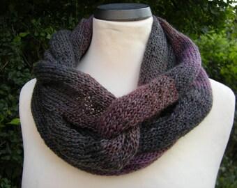 Loop circle scarf infinity scarf mud-erika