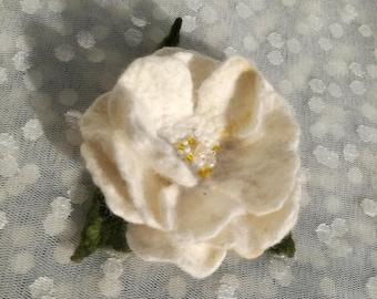 Felted flower