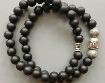 Men's bracelets set with gem