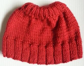Hand Knit American Girl Doll skirt
