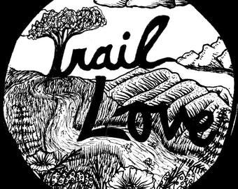 Trail Love Sticker