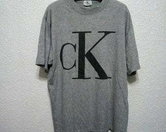 Sale Price Down Vintage 90s Big Logo CK Calvin Klein Jeans Size M Medium Made In USA