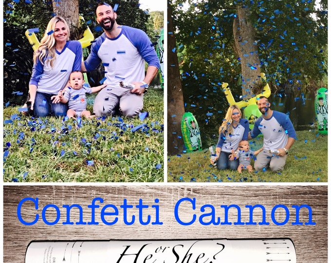 """SALE 24"""" XXL Confetti Cannon Gender Reveal Confetti Cannon"""
