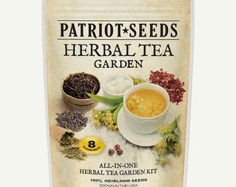 Herbal Tea Garden - 8 Variety Heirloom Seed Pack, 100% Heirloom, Non-GMO, Easy-to-Grow Herbs for Brewing Tea