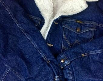 Wranglers Faux Shearling Denim Jacket