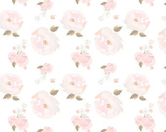 Baby Swaddle | Floral Baby Swaddle, Blush Floral Swaddle, Baby Girl Swaddle, Pink, Blush, Organic Swaddle, Floral Baby Bedding