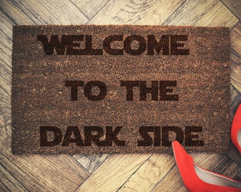 Star Wars Inspired Welcome Doormat coconut Welcome to the darkside
