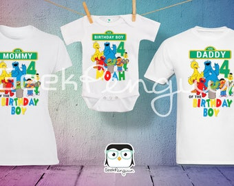 Sesame Street Birthday Shirt, Sesame Street Family shirts, Sesame street shirt, Elmo Birthday shirt, Personalized Birthday t-shirt