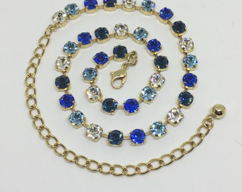 Swarovski Blue Ombre Crystal Necklace