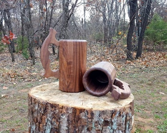 Wood Beer Mug (Walnut)