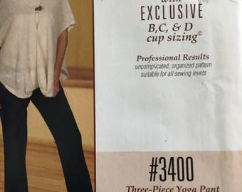 Silhouettes Pattern #3400. Three Piece Yoga Pant.
