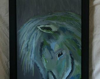 Turquoise paint passion oil horse horse oil paint