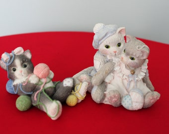Kittens in Love  Calico Kittens  Figurines I'm All Wrapped up Over You, The Purr-fect Love  Numbered    656