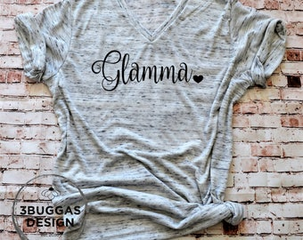 Glamma t shirt, best grandma ever, glam ma, gift for grandma, new grandma gift, pregnancy reveal, gift idea, nana shirt