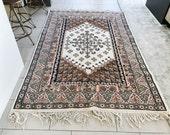 5x7 Rug - Vintage Rug Moroccan rug Area Rug Bedroom Rug Living Room Rug Hand Knotted Rug Wool Rug FREE SHIPPING - Mora0507