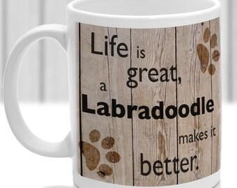 Labradoodle dog mug, Labradoodle dog gift, dog breed mug, ideal present for dog lover