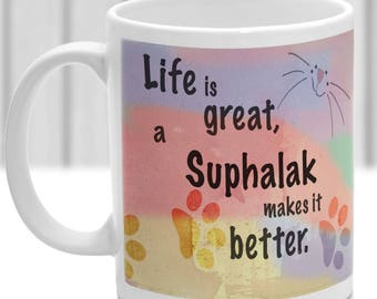 Suphalak cat mug, Suphalak cat gift, ideal present for cat lover