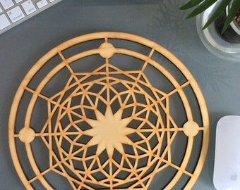 Laser Cut Wood Wall Clock | Handmade Decorative Art Wall