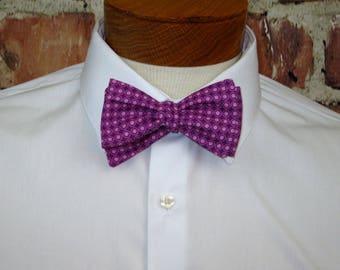Purple/Pink Polkadot Bowtie