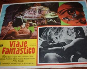 Fantastic Voyage Raquel Welch 1966 Mexican Science Fiction Film Movie Lobby Card