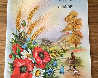 Vintage | Happy Birthday | Grandpa | Hunting | Greeting Card