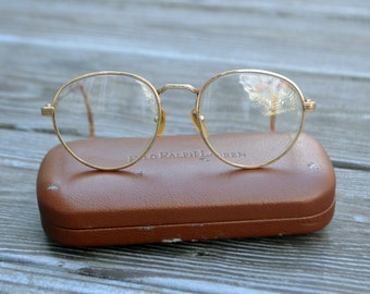 Vintage Ralph Lauren Eyeglasses w/ Tortoise Shell Temple Tips