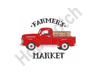 Farmers Pick Up Truck - Machine Embroidery Design