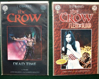The Crow Comic No. 2 'Dead Time' and 3 'Flesh and Blood' J.O' Barr's - NM