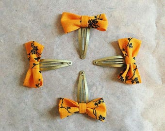 Girls Bow Snapper Clips x 2