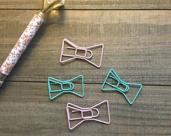 Pastel Kate Bow Paper Clips