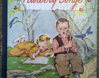 Vintage 1943 Little Golden Book NURSERY SONGS, #7, 1st Cover