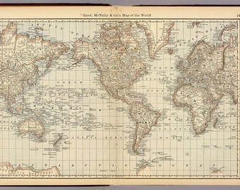 Digital world map hight printable