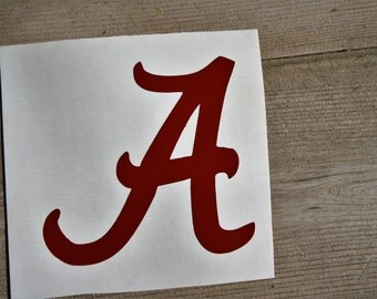 Alabama Decal/University of Alabama Decal/Alabama Car Decal/Alabama Cup Decal/Alabama Crimson Tide/ Alabama Football