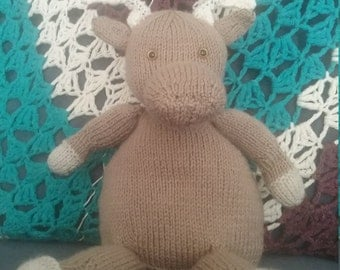 Hand Knitted Moose