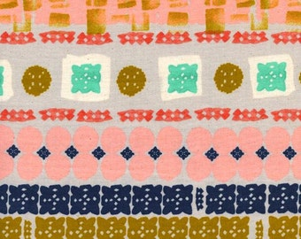 Geometric Fabric | Cotton + Steel | Shapes | Squares | Pink | Stripes | Gold | Blue | Red | Stamped Fabric | Pretty | Unique
