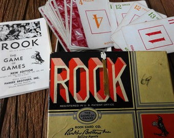 Complete 1943 Parker Brothers Rook Card Game