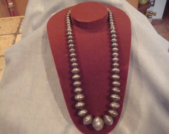 Sterling silver Navajo beads from pawn probably made in the 1930s, Beautiful!