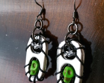 Pop Tab Skull Earrings