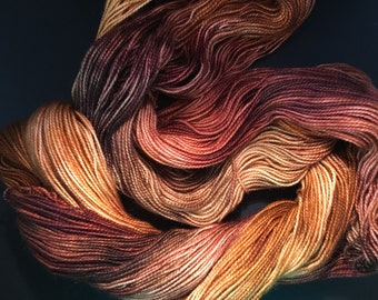 Hand Dyed Merino High Twist Superwash in Colorway FOXY