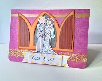 Greeting Card - Wedding Car