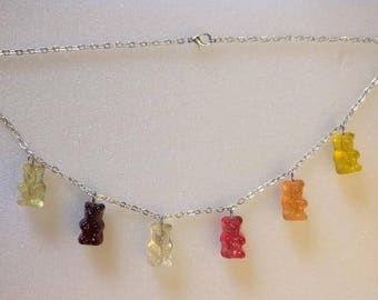 Gummy Bear Charm Necklace