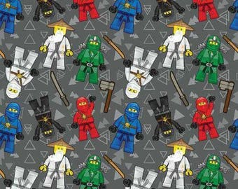 Ninjago french terry knit fabric
