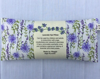 Lavender Eye Pillow for Relaxation and Yoga, Gift for a Teacher or Yoga Bunny, Lavender eye Bag, Mindfulness and Relaxation Pillow