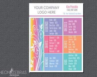 LLR  Price List |  PRINTABLE