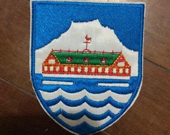 Patch Coat of Arms Llag Nuuk - Geenland Capital - Polar bear - Inuit - Arctic Circle