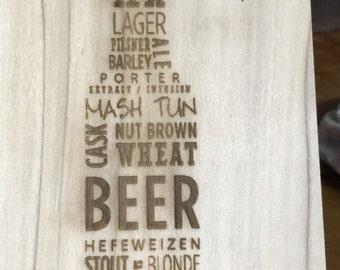 Laser etched beer bottle opener